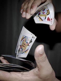 Card shuffle. Winner take all in vintage Las Vegas.