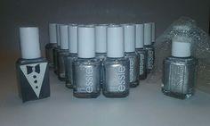 20 ESSIE Wholesale Nail Polish SILVER baby shower bridal shower party favor Bulk #Essie