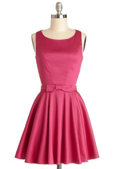 Classic Twist Dress in Magenta. You like to consider yourself something of a modern-day Audrey - you have impeccable taste, valuing elegance and grace above all else, but like to keep things interesting! #pink #modcloth