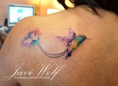 Watercolor Hummingbird Tattoo  Tattooed by @Javi Wolf