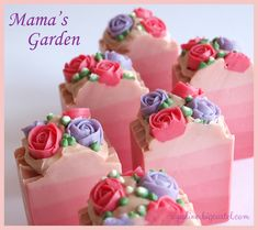 Mama's Garden soaps are on sale too 😊 This one is scented with Mango&Papaya f… Mama's garden soaps are also on offer. This fragrance is perfumed with mango & papaya for women Soap Cake, Cupcake Soap, Handmade Soap Recipes, Handmade Soaps, Homemade Soap Bars, Soap Packaging, Cold Process Soap, Soap Molds, Home Made Soap