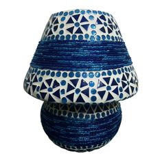 Mosaic Table Lamps Blue