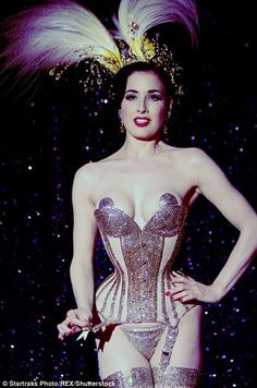 The V&A will open their latest exhibition on Saturday exploring the history of underwear including those worn by well known faces such as burlesque star Dita Von Teese (pictured)
