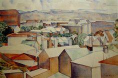 Rita Angus, Wellington Rooftops