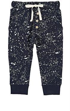 Little Indians Paint-Splatter-Detailed Stretch-Cotton Sweatpants #ad