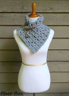 Fiber Flux...Adventures in Stitching: Free Crochet Pattern...Margaret Button Cowl! - Grandma's Christmas present?