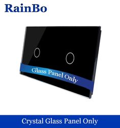 Free shipping Luxury Double Crystal Glass Panel 2 Frames Touch 1 gang Wall Switch Panel 151mm*80mm EU Standard  DIY Accessories #Affiliate