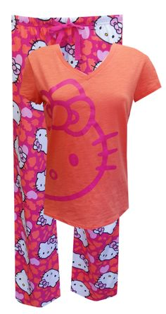 Hello Kitty Animal Lover Pajama You are sure to love the Hello Kitty pajamas in the hottest color scheme of the season! The ref...