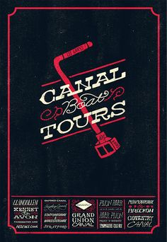 Canal Boat Tours Posters by Russ Gray, via Behance