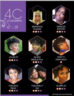 Top 100 #NaturalHair Type 4 Vloggers as named by 4chairchick.com
