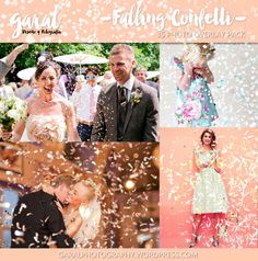 FALLING CONFETTI Photoshop Overlays 35 Pack overlays by marcegaral