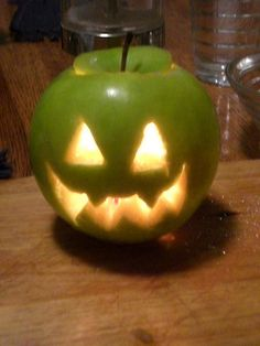 Anya and i did this last year when we couldn't find any pumpkins or gourds :)