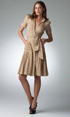 85b14b3eaa Diane von Furstenberg Bellette Eyelet Wrap Dress media gallery on  Coolspotters. See photos