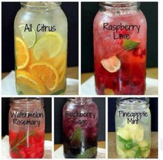 DIY flavored waters They all look so good!!