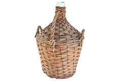 "French Wicker Wine Bottle  -  15""W x 20.5""H  -  OneKingsLane.com  -  ($225.00)  $145.00"