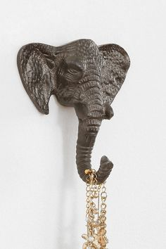 Elephant Hook from Urban Outfitters. My New Room, My Room, Elephant Love, Elephant Stuff, Elephant Tapestry, Elephant Elephant, Boho Room, Roomspiration, Boho Decor