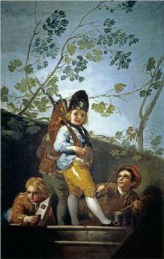 Muchachos jugando a soldados  - Francisco de Goya