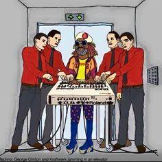 George Clinton and Kraftwerk with TR-909