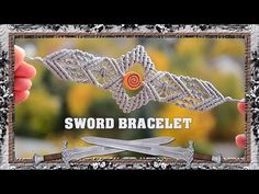 Introduction to Macrame Sword Bracelet. Tutorial for this bracelet coming soon :) I just wanted to show you which tutorial will be next. Share, Like, Subscri. Macrame Bracelet Patterns, Bead Loom Bracelets, Macrame Necklace, Macrame Patterns, Macrame Jewelry, Macrame Bracelets, Hemp Jewelry, Handmade Jewelry, Loom Craft