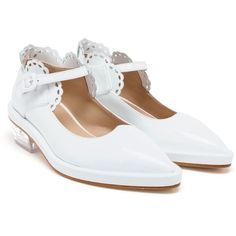simone rocha, shoes, white, scalloped