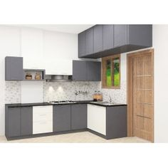 New painting kitchen cabinets grey cupboards ideas Kitchen Plans, Modern Kitchen, Kitchen Modular, Kitchen Room Design, Kitchen Furniture Design, Modern White Kitchen Cabinets, Kitchen Cabinet Colors, Grey Kitchen Walls, New Kitchen Cabinets
