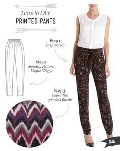 Lula Louise: How to DIY Printed Pants