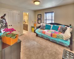 Bedroom from the Cotton Creek IV floor plan from Kansas City new home builder Summit Custom Homes.