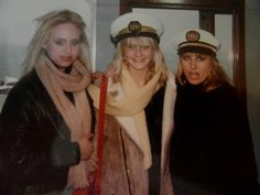 We were quite wild in our early twenties. This was taken on board a boat to Dieppe in France. Left to right my friends Sharn,, Justina in the centre and me on the right. We stole the staff caps. How bolshy is that! They were fun times!.