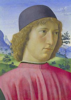 Portrait of a Young Man in Red - Tempera su tavola The National Gallery, London. Renaissance Portraits, Italian Renaissance, Italian Painters, Italian Artist, Michelangelo, Types Of Portrait, National Gallery, Old Portraits, Famous Art
