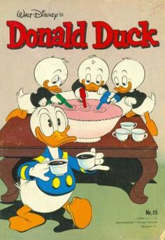 Cover for Donald Duck (Oberon, 1972 series) Donald Duck Characters, Disney Characters, Fictional Characters, Cover, Walt Disney, Dutch, Comic Books, Cartoon, Dutch People