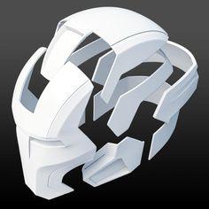 Mark 16 helmet 3D-printable | Etsy Iron Man Cosplay, Cosplay Armor, Cosplay Diy, Iron Men, Armadura Cosplay, Iron Man Helmet, Impression 3d, Foam Armor, Iron Man Art