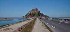 isle of saint michel france - mont st michel viewed from the causeway