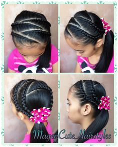 Braid Hairstyles for Kids Lil Girl Hairstyles, Kids Braided Hairstyles, Children Hairstyles, Braids For Kids, Braids For Long Hair, Aurora Hair, Cute Haircuts, Types Of Braids, Lace Braid