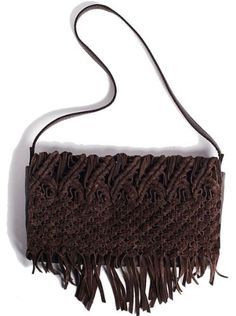Amazon.com: Daisy Macrame Fringe Crossbody Clutch Espresso Brown: - 150. ~ Marshalls 30.