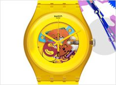 New Swatch Gents Watch in Yellow...oooh i can't decide....