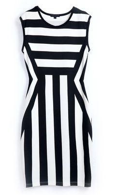 To find out about the Black White Striped Round Neck Sleeveless Dress at SHEIN, part of our latest Dresses ready to shop online today! White Fashion, Look Fashion, Womens Fashion, Casual Dresses, Fashion Dresses, Modest Dresses, Summer Dresses, Black White Stripes, Style Me