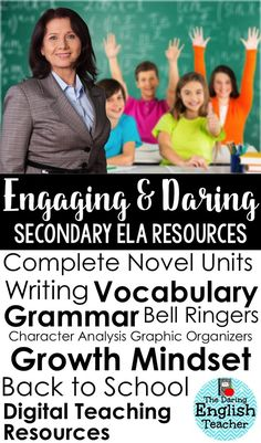 Engaging and Daring Secondary ELA Resources. Find teaching resources for writing, vocabulary, grammar, reading, growth mindset, and more. Ideal for high school English and middle school English.