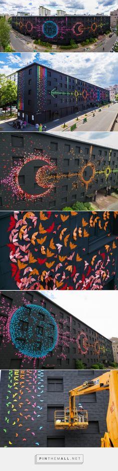 """Cycles Lunaires"", Mademoiselle Maurice via: Un oeil qui traîne Mademoiselle Maurice, Art Public, Urbane Kunst, Art Graphique, Street Art Graffiti, Art Plastique, Types Of Art, Urban Art, Installation Art"