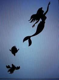 little mermaid silhouette tattoo - Google Search
