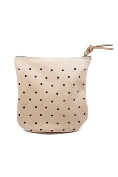 Punched Pouches are back in stock! This little cutie comes with an optional cross body strap. Made here in Seattle! $56