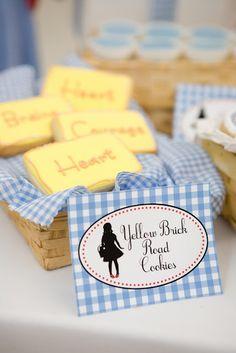 Wizard of Oz yellow brick road cookies