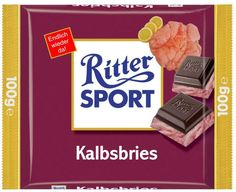 RITTER SPORT Fake Schokolade Kalbsbries