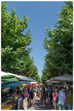 Markt in Santa Maria del Cami auf Mallorca. Jeden Sonntag auf dem Marktplatz.