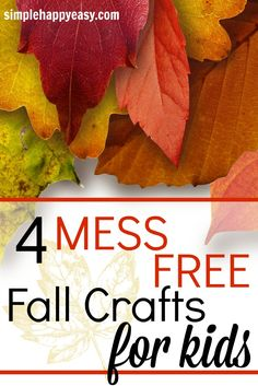 I love doing crafts with my kids but I don't like cleaning! These mess free…