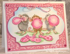 Hi all, Here is my pretty pink balloon card.  The challenge can be found here: http://www.splitcoaststampers.com/forums/hope-you-can-cling-challenge-forum-f299/hycct1428-pretty-pink-balloons-chat-thread-t593506.html I just love these little mice, they are sooo cute! I usually color all the balloons different colors but this is a special all pink day! Thanks for looking!