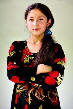 Pamiri Girl, Kevron, Gorno-Badakhshan, Tajikistan. The Pamiris are an Iranian ethnic group in the Gorno-Badakhshan Autonomous Region of eastern Tajikistan, the Badakhshan Province of northeastern Afghanistan, and the Chitral and Gilgit Baltistan regions of northern Pakistan. (V)