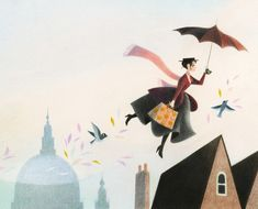 Genevieve Godbout illustration #marypoppins