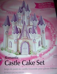 This Castle Cake Set would make the perfect cake for a little girls birthday party! Also makes a medieval fortress and a candy castle!