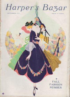 Harpers Bazar (Harper's Bazaar) 1915 September  (Magazine), Piorkowski; Erte; Harrison Cady; Countess of Warwick; Lady Randolph Churchill