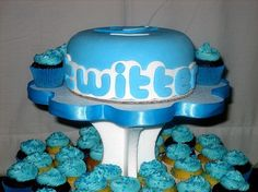Twitter Cakes  Cup Cakes creative-cakes food-that-means-something
